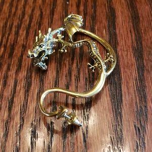 Gold Dragon Full Ear Earring